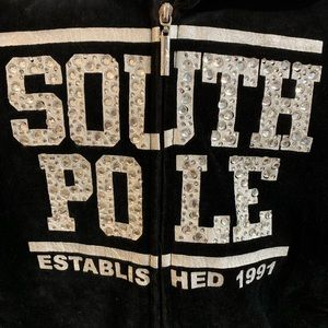 Girls Black sparkly South Pole hoodie